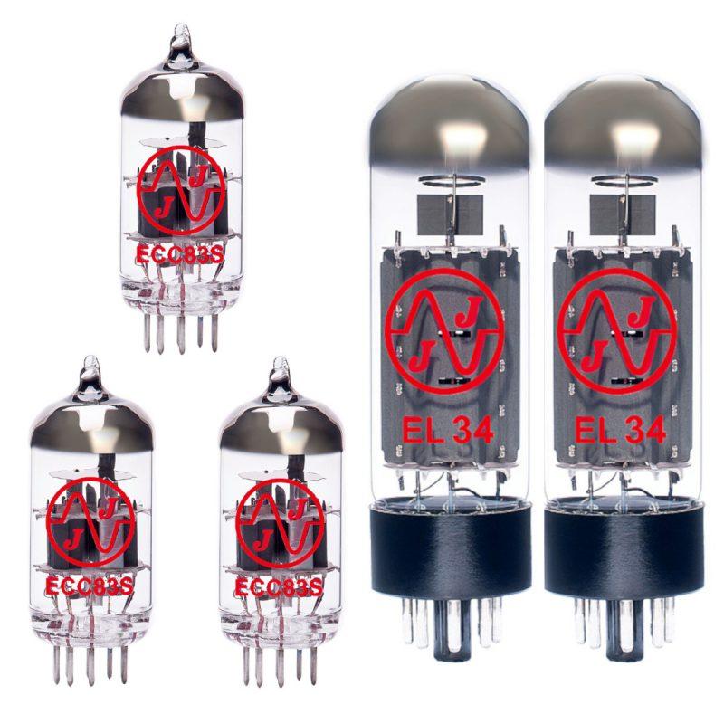 3 X ECC83 and 2 X EL34 valves for guitar amplifiers