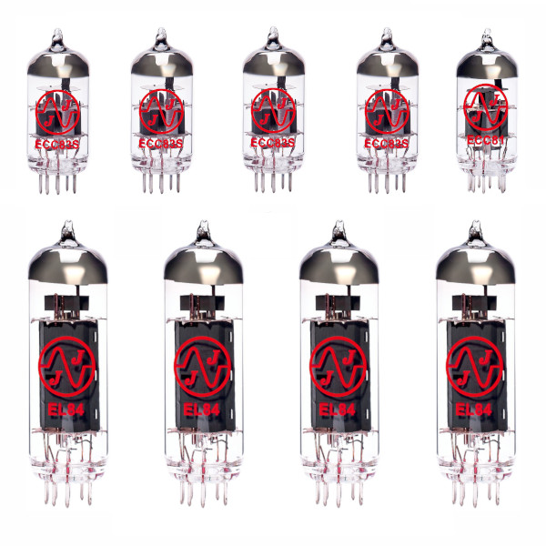 4x ECC83 + 1x ECC81 + 4x EL84 matched valve kit