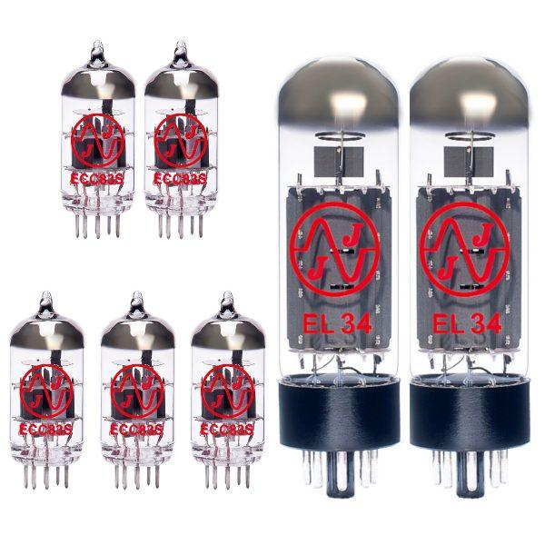 5 x ECC83 and 2 x EL34 amplifier valves