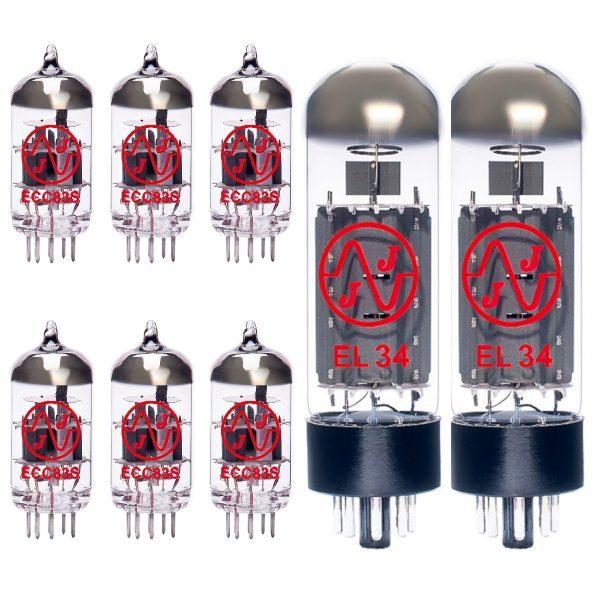 6 X ECC83 and 2 X EL34 valves for guitar amplifiers