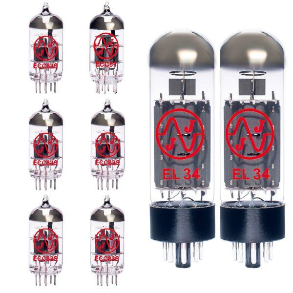 5 X ECC83 1 X ECC81 2 X EL34 Valves For Guitar Amplifiers
