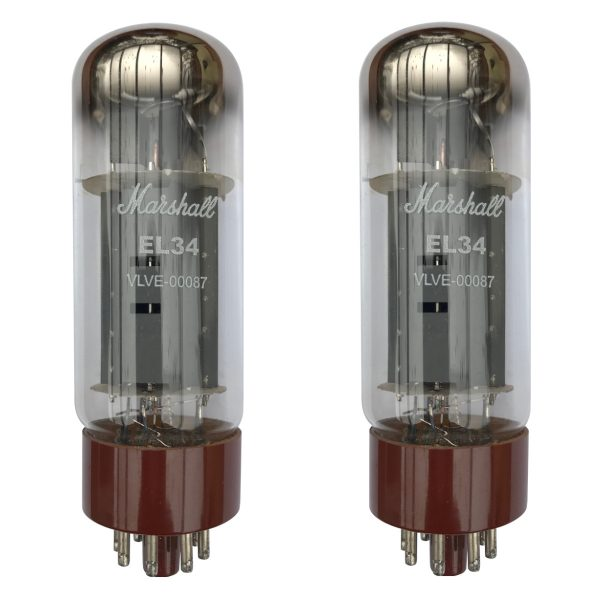 2 X Marshall EL34 Matched Power Valves