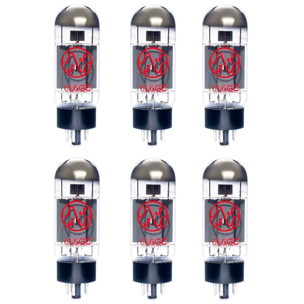 6 X JJ 6L6GC Matched Valves