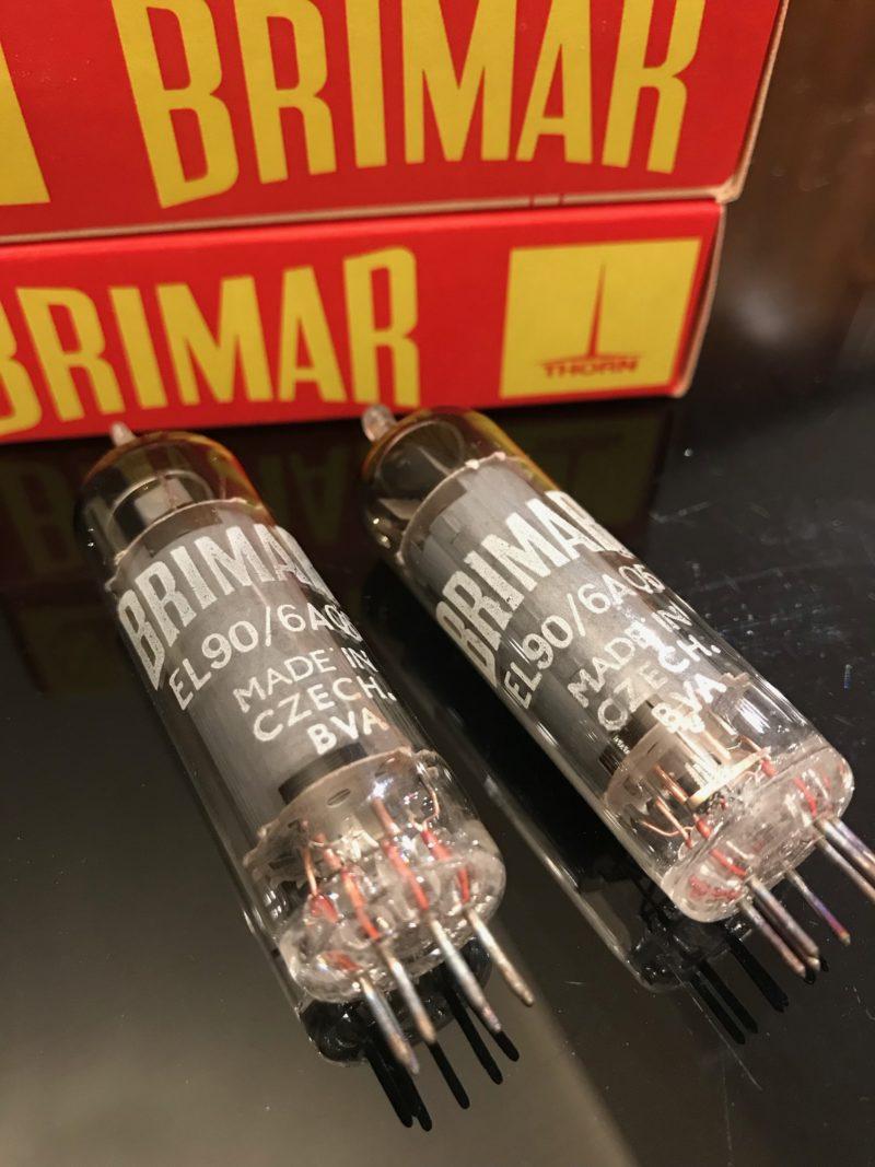 2 x Brimar EL90 6AQ5 power valves