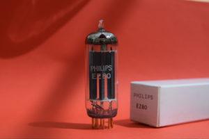 Philips EZ80 gold pin rectifier valve